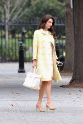 Amal Clooney Looking Fashionable - Washington D.C. 10/12/2021
