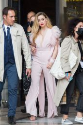 Amber Heard – Leaving L'Oreal Show at Paris Fashion Week 10/03/2021