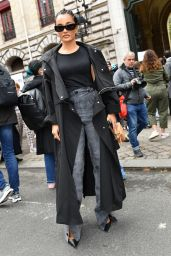 Amina Muaddi – Loewe Spring/Summer 2022 Show in Paris 10/01/2021