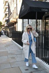 Amy Hart - Leaving Daniel Galvin Hair Salon in London 10/06/2021