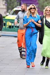 Ashley Roberts in a Striped Tracksuit and Kimberly Wyatt - London 10/11/2021