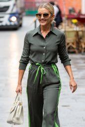 Ashley Roberts Wears a Khaki Coord - London 10/07/2021