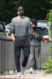 Ashton Kutcher and Mila Kunis - Running Errands Together in Studio City 10/07/2021