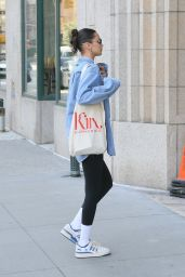 Bella Hadid in Comfy Outfit - NYC 10/07/2021