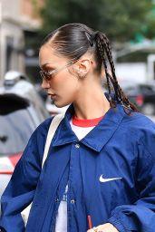 Bella Hadid Wears a NIKE Jacket - NYC 10/12/2021