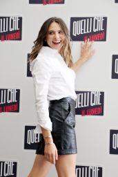 """Brenda Lodigiani - """"Quelli Che Il Lunedì"""" Photocall in Milan 09/30/2021"""