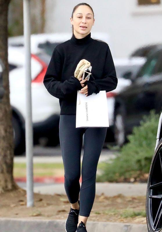 Cara Santana in Leggings - Hollywood 10/04/2021