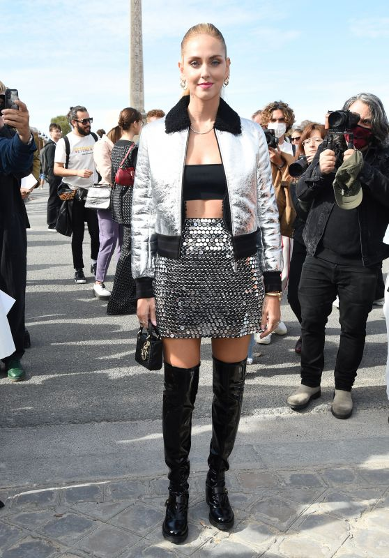Chiara Ferragni – Dior Fashion Show at Paris Fashion Week 09/28/2021