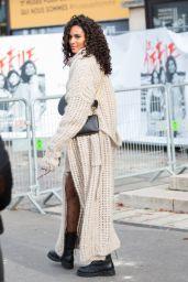 Cindy Bruna – Leaving L'Oreal Show at Paris Fashion Week 10/03/2021