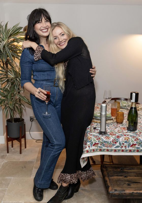 Daisy Lowe and Clara Paget - First Night of the Coravin Club Dinner Party Launch in London 10/04/2021
