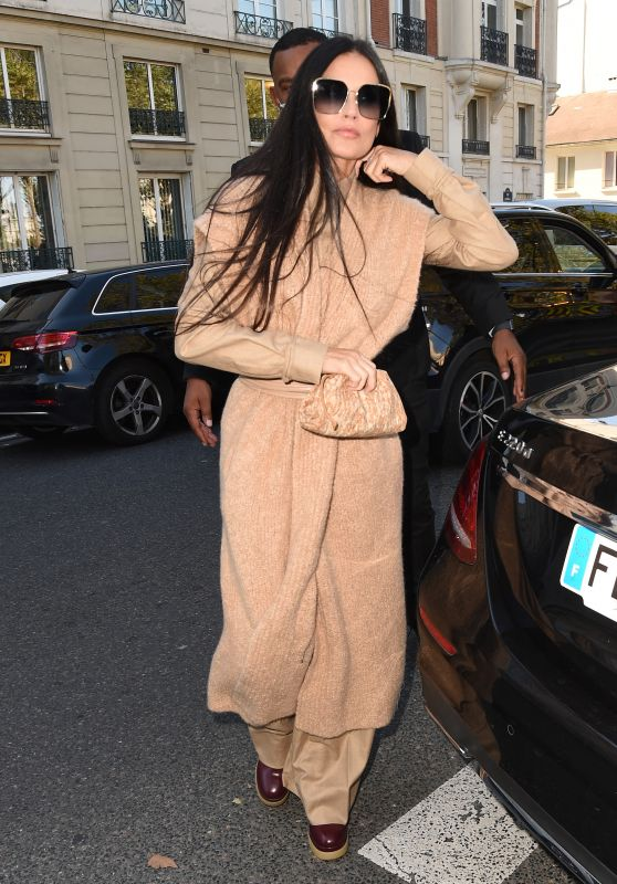 Demi Moore - Arriving at Chloe Show in Paris 09/30/2021