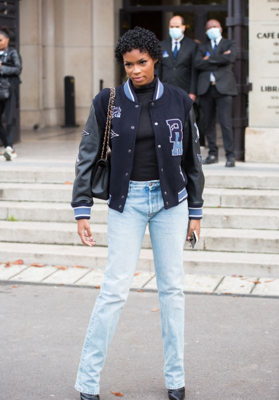 Didi-Stone Olomidé – Leaving L'Oreal Show at Paris Fashion Week 10/03/2021