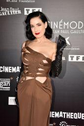 "Dita Von Teese - ""CineMode"" By Jean Paul Gaultier : Press Preview in Paris 10/03/2021"