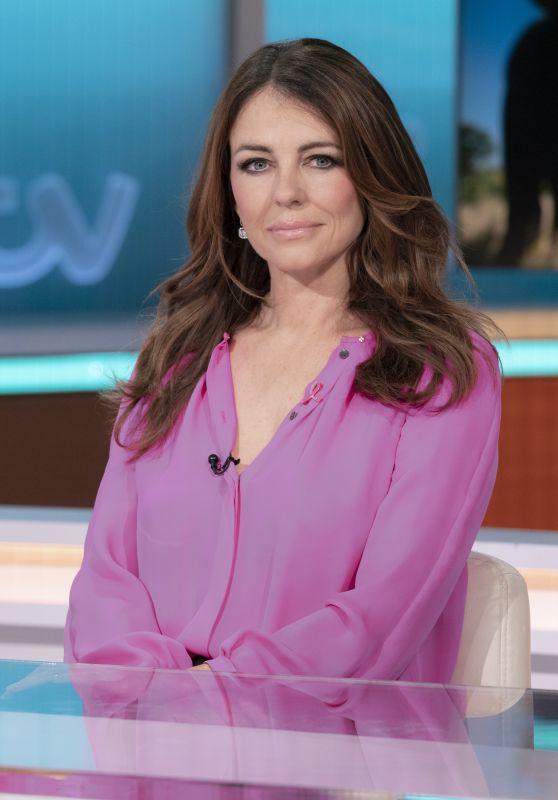 Elizabeth Hurley - Good Morning Britain TV Show in London 10/12/2021