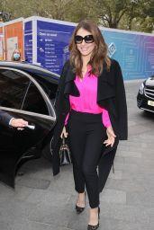 Elizabeth Hurley in a Smart Trouser Suit and Heels - London 10/12/2021