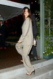 Emily Ratajkowski Night Out Style - NYC 10/04/2021