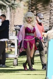 "Emmy Rossum - ""Angelyne"" Set in Los Angeles 10/12/2021"