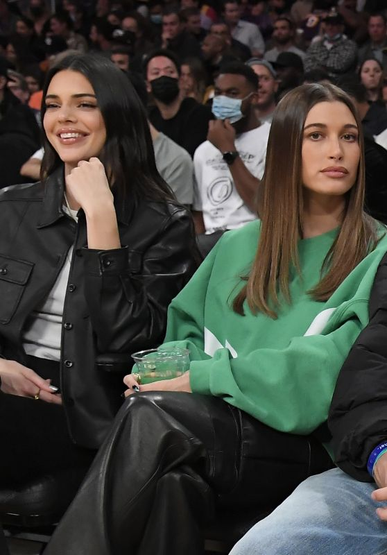 Hailey Rhode Bieber and Kendall Jenner - LA Lakers and Phoenix Suns Game in LA 10/22/2021