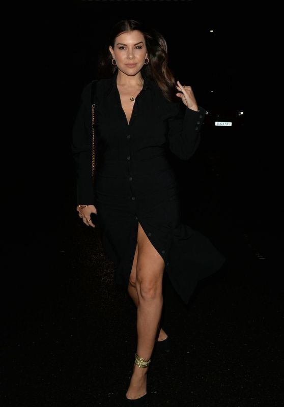 Imogen Thomas Night Out in Mayfair, London 10/02/2021