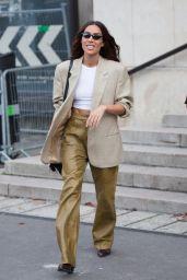 Ines-Loan Rau – Leaving L'Oreal Show at Paris Fashion Week 10/03/2021