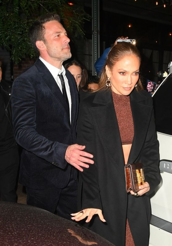 """Jennifer Lopez and Ben Affleck - Leave the """"Last duel"""" After-Party in NYC 10/09/2021"""