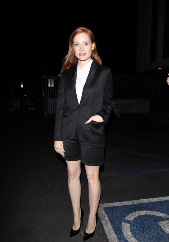 """Jessica Chastain - Promotes """"Scenes from a Marriage"""" in Hollywood 10/16/2021"""