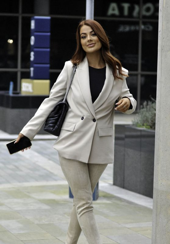 Jessica Hayes - Leaves BBC Breakfast Studios in Manchester 10/10/2021