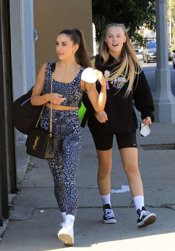 JoJo Siwa and Jenna Johnson - Leaving the Dance Studio in Los Angeles 10/14/2021