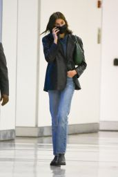 Kaia Gerber in Travel Outfit - JFK Airport in New York 09/29/2021