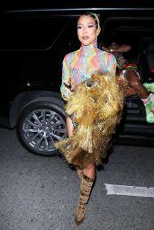Karrueche Tran - Arriving at Cardi B's 29th Birthday Party in LA