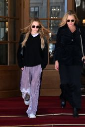 Kate Moss and Lila Grace Moss - Out in Paris 10/04/2021