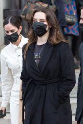 Katherine Langford – Leaving L'Oreal Paris 2021 Show 10/03/2021