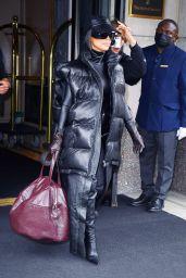 Kim Kardashian - Filming New Hulu Show in NYC 10/06/2021