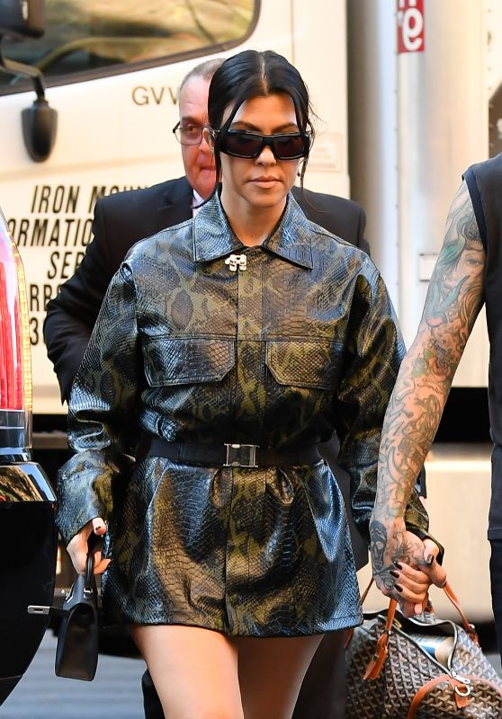 Kourtney Kardashian is Stylish - New York 10/14/2021