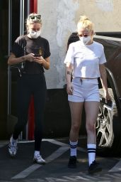 Kristen Stewart in White Mini Shorts - Out in Los Angeles 10/13/2021