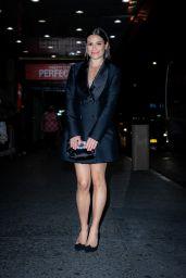 Lea Michele in a YSL Dress - NYC 10/13/2021