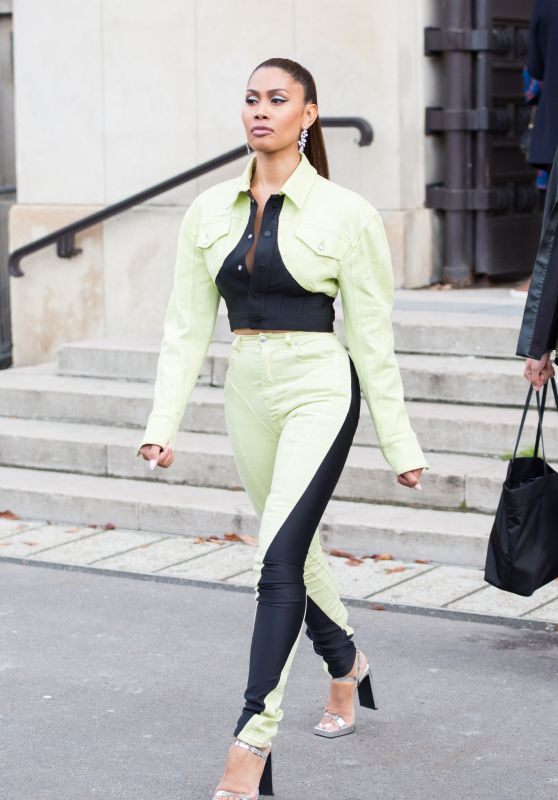 Leyna Bloom – Leaving L'Oreal Show at Paris Fashion Week 10/03/2021