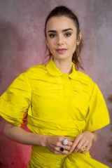 Lily Collins - GO Gala in Los Angeles 10/23/2021