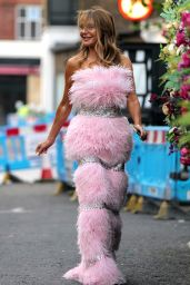 Lizzie Cundy in a Feathered Pink Dress 10/06/2021