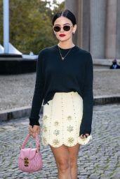 Lucy Hale – Miu Miu Fashion Show in Paris 10/05/2021