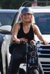 Malin Akerman on Her Electric Bike 10/01/2021