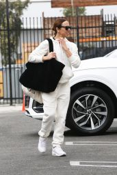Melanie Chisholm in a Matching FILA Sweatsuit - Los Angeles 10/06/2021