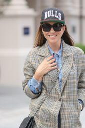 Myleene Klass in a Tweed Blazer and Baseball Cap - London 10/02/2021