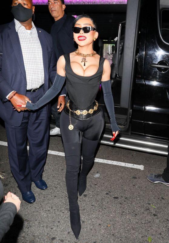 Nikita Dragun - arriving at Cardi B's 29th Birthday Party in LA 10/11/2021