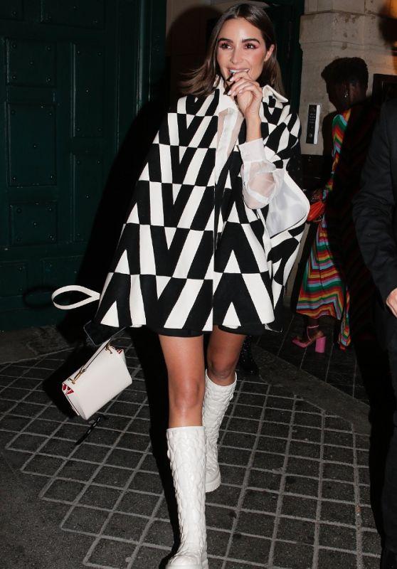 Olivia Culpo - Leaving Valentino Party in Paris 10/01/2021