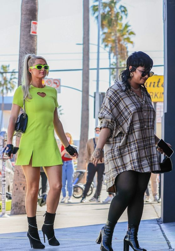 Paris Hilton and Demi Lovato - Go Shopping While Recording Their New Show in West Hollywood 10/13/2021