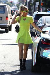 Paris Hilton Street Style - Shopping in West Hollywood 10/13/2021