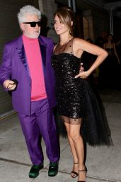 Penelope Cruz, Milena Smit and Pedro Almodovar at the Lincoln Center in New York 10/08/2021