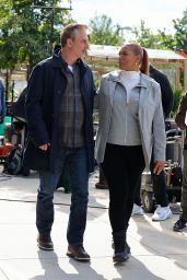 """Queen Latifah - Filming at """"The Equalizer"""" Set in Queens 10/04/2021"""