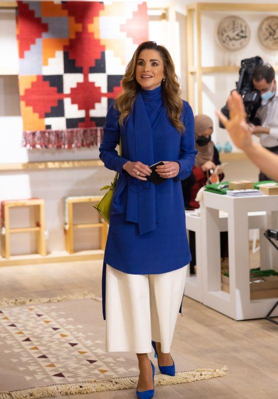 Queen Rania of Jordan - 24th Jordan River Designs Handicrafts Exhibition Launch in Amman 10/20/2021